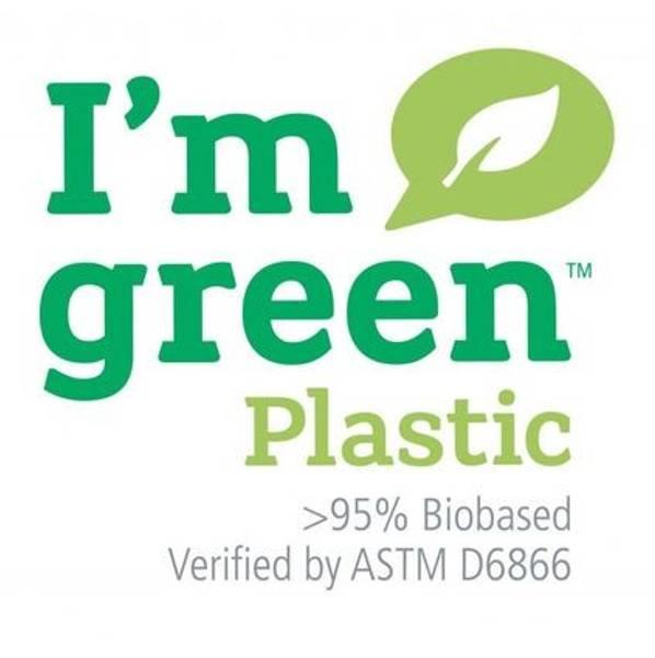 Stor Hinza bag Green plastic Lysblå