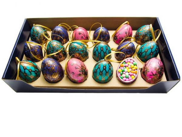 Mini Egg m/ Sjokoladelinser 40g Blått